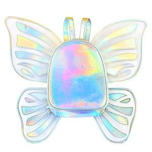 Holographic Festival Rave Backpack Purse w/ Wings